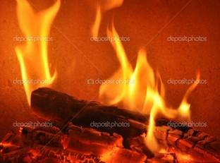 огонь на красном