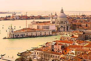 Венеция панорама на Гранд канал