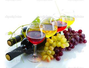 виноград на винных вутылках