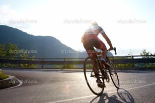 дорога велосипедист