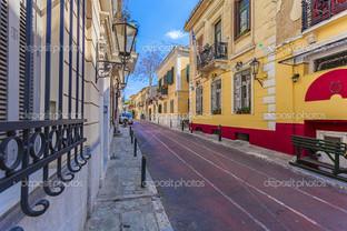 улицы в Афинах