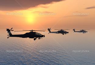 вертолеты на горизонте