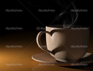 чашка кофе и сердце