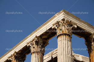 фрагмент колоннады храм Зевс
