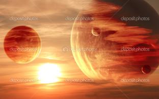 закат на воне планет