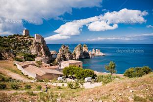 набережная скалы Сицилия