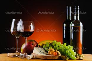 сыр вино и фрукты