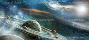 планета кольцо система
