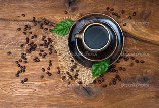 кофе вид сверху