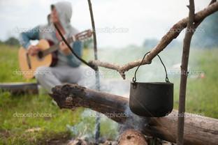 чайник на огонь