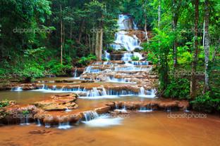 водопад желтая река
