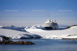 корабль ледники ландшафт