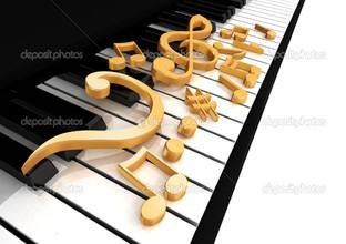 скрипичный ключ на пианино