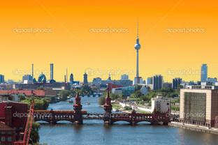 Берлин пейзаж закат
