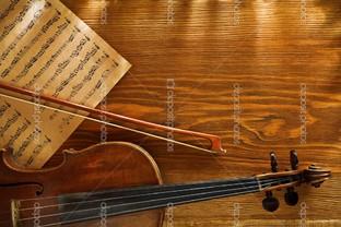 скрипка и смычок фон