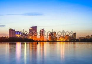 Киев город горизонт по ночам