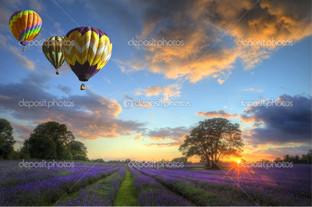 воздушные шары красивый полёт