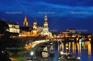 Дрезден ночью Германия
