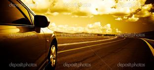 автомобиль по дороге фон